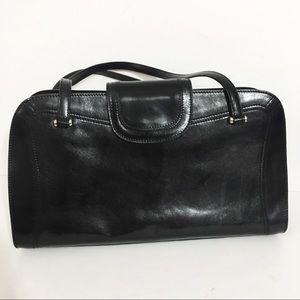 Monsac | Black Leather Shoulder Bag